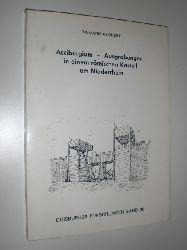 """""""BECHERT, Tilmann:""""  """"Asciburgium - Ausgrabungen in einem römischen Kastell am Niederrhein. Herausgegeben vom Stadtarchiv Duisburg in Verbindung mit der Mercator-Gesellschaft."""""""