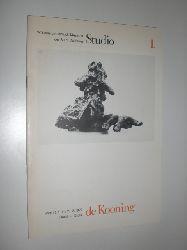 DE KOONING, Willem - Ebbers, Klaus (Redaktion):  de Kooning. PLastik - Grafik. Ausstellungskatalog. Wilhelm-Lehmbruck-Museum Duisburg 1977. Studioausstellungen Heft 1.
