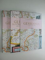 """""""BLAEU, Joan:""""  """"Atlas Maior of 1665. Germania. Germania, Austria & Helvetia. 2 Bände. Text in Deutsch Englisch und Französisch."""""""