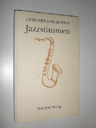 BOLAENDER, Gerhard:  Jazzstimmen. Gedichte.