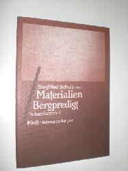 """SCHULZ, Siegfried (Hrsg.):""  ""Materialien. Bergpredigt. Sekundarstufe I."""