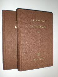 LEISEWITZ, Johann Anton:  Tagebücher. Nach den Handschriften herausgegeben von Heinrich Mack und Johannes Lochner. 2 Bände.
