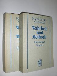GADAMER, Hans-Georg:  Wahrheit und Methode. 2 Bände. Bd. 1: Grundzüge einer philosophischen Hermeneutik; Bd 2: Ergänzungen. Register. 6.;  2. Aufl.