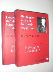 HEIDEGGER, Martin - DENKER, Alfred / ZABOROWSKI, Holger (Hrsg.):  Heidegger und der Nationalsozialisus. 2 Bände. Dokumente und Interpretationen.
