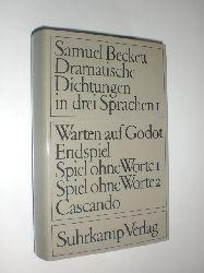 """""""BECKETT, Samuel:""""  """"Dramatische Dichtungen in drei Sprachen. Band 1. Französische Originalfassungen. Deutsche Übertragung von Elmar Tophoven. Englische Übertragung von Samuel Beckett."""""""