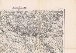 Bremen. Karte des Deutschen Reiches, 206: Bremen. Umdruckausgabe.