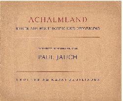 Jauch, Paul:  Achalmland. Bilder aus Reutlingen und Umgebung.