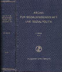 Lederer, Emil - Herausgeber:  Archiv für Sozialwissenschaft und Sozialpolitik. Begründet von Werner Sombart, Max Weber und Edgar Jaffe in Verbindung mit Joseph Schumpeter und Alfred Weber. 67. Band 1932. Komplett.
