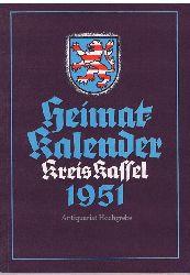 Heimat-Kalender Kreis Kassel 1951.