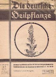 Keller, Ernst-Paul - Herausgeber:  Die deutsche Heilpflanze. Zeitschrift und Mitteilungsblatt der Reichsarbeitsgemeinschaft für Heilpflanzenkunde und Heilpflanzenbeschaffung e.V.. 9. Jahrgang, Nr. 7, Juli 1943.