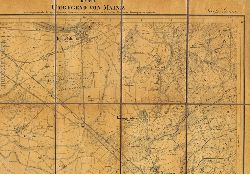 Karte der Umgegend von Mainz in das trigonometrische Netz der allgemeinen Landesvermessung aufgenommen von dem Großherz. Hessischen Generalquartiermeisterstabe. Section Groß-Gerau