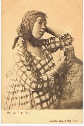 An Arab Girl. Carte postale.