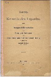 Beckel, August:  Beiträge zur Kenntnis des Lupanin. Inaugural Dissertaion zur Erlangung der Doktorwürde der Hohen Philosophischen Fakultät der Universität Marburg.