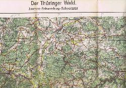 Der Thüringer Wald. Ilmenau - Schwarzburg - Schwarzatal. Blatt 2 SO.
