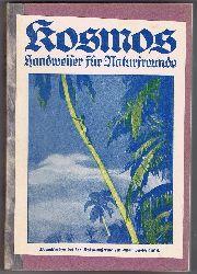 Kosmos 1924. Handweiser für Naturfreunde und Zentralblatt für das naturwissenschaftliche Bildungs- und Sammelwesen. 21. Jahrgang, 12 Hefte, komplett.