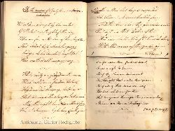 Lichtenberg, Mathilde:  Ausgewählte Lieder und Gedichte. Handschriftlich erstelltes Gedichtbuch. 1860 begonnen von Mathilde Lichtenberg, die letzten Abschriften von 1870.