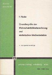 Basler, H.:  Grundbegriffe der Wahrscheinlichkeitsrechnung und statistische Methodenlehre.