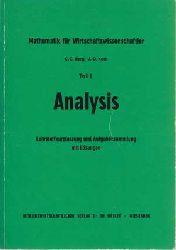Berg, Claus C. und U.-G. Korb:  Analysis. Lehrstoffkurzfassung u. Aufgabensammlung mit Lösungen. Teil I.