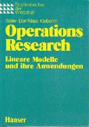 Dürr, Walter und Klaus Kleibohm:  Operations Research. Lineare Modelle und ihre Anwendungen.
