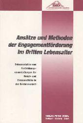 Böge, Sybille:  Ansätze und Methoden der Engagementförderung im dritten Lebensalter. Dokumentation von Fortbildungsveranstaltungen für Haupt- und Ehrenamtliche in der Seniorenarbeit.