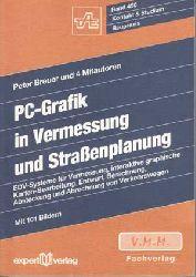 Breuer, Peter:  PC-Graphik in Vermessung und Straßenplanung. EDV-Systeme für Vermessung, interaktive graphische Karten-Bearbeitung, Entwurf, Berechnung, Absteckung und Abrechnung von Verkehrswegen.