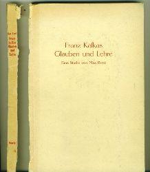 """Brod, Max.  Franz Kafkas Glauben und Lehre. (Kafka und Tolstoi) Eine Studie. Mit einem Anhang """"Religiöser Humor bei Franz Kafka"""" von Felix Weltsch."""