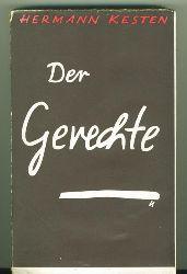 Kesten, Hermann.  Der Gerechte. Roman. Umschlag: Paul Urban.