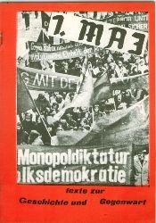 1. Mai.  Texte zur Geschichte und Gegenwart des 1. Mai.