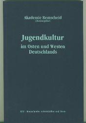 """Akademie Remscheid. Hrsg.  Jugendkultur im Osten und Westen Deutschlands. Dokumentation der Fachtagung """"Alltagskulturen Jugendlicher - Ein Vergleich zwischen BRD und DDR"""" vom 3.- bis 5.10.1990."""
