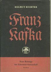 Kafka: Richter, Helmut.  Franz Kafka. Werk und Entwurf.