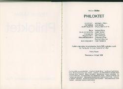 Müller, Heiner.  Philoktet. Zeichnungen von Dieter Hacker.