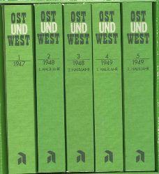 Kantorowicz, Alfred.  Ost und West. Vollständiger Nachdruck der Jahrgänge 1947-1949. 5 Bände. Ost und West - Beiträge zu kulturellen und politischen Fragen der Zeit