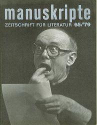 Jandl, Ernst.  Aus der Fremde. Sprechoper in 7 Szenen in Manuskripte. Zeitschrift für Literatur. Heft 65. Hrsg. Alfred Kolleritsch und Günter Waldord.