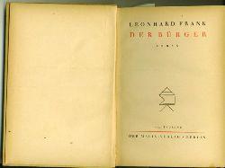 Frank, Leonhard.  Der Bürger. Roman.