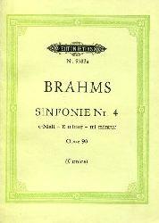 Brahms:  Sinfonie Nr. 4. e-Moll, E minor, mi mineur. Nach den Quellen herausgegeben von Johannes Gerdes.