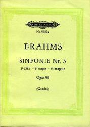 Brahms:  Sinfonie Nr. 3. Opus 90. F-Dur, F major, fa majeur. Nach den Quellen herausgegeben von Johannes Gerdes.