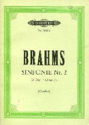 Brahms:  Sinfonie Nr. 2. Opus 73. D-Dur. Nach den Quellen herausgegeben von Johannes Gerdes.