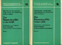 Böhmer, Peter / Leber, Thomas / Martini, Jürgen / Seidemann, Hans / Wagner, Reinhard:  Der Rassenkonflikt in den USA. 2 Bände. (=Modelle für den politischen und sozialwissenschaftlichen Unterricht 14/15)