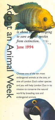 "London Zoo  ""Infoflyer """"Adopt an Animal Week"""""""