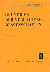 Tembrock, Günther  Grundriss der Verhaltenswissenschaften