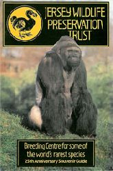"Jersey Wildlife Preservation Trust  ""Guide Book (Gorilla """"Jambo"""") 25th Anniversary Souvenir Guide"""