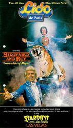 """The All New Lido de Paris. Direkt from Paris! Starring Siegfried & Roy """"Superstars of Magic"""". Stardust Hotel and Casino. Las Vegas"""
