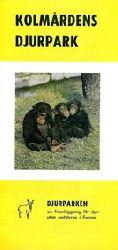 Zoo Kolmarden  Faltblatt. Djurparken (3 Schimpansenkinder)
