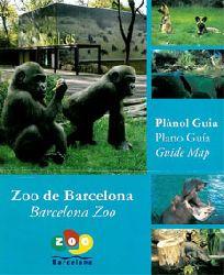 Zoo de Barcelona  Guide Map Barcelona Zoo (Gorilla Jungtiere und 4 kleine Fotos)