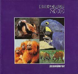 Krefelder Zoo  Zooführer (violett, 4 Tierbilder)