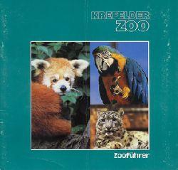 Krefelder Zoo  Zooführer, (grün, 3 Tierbilder)