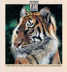 Royal Melbourne Zoological Gardens  Guide Map (Zeichnung Tiger)