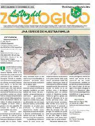 Zoologico Guadalajara  La Voz del Zoologico (Magazin) Jg. 5, No. 12, Dec 1993