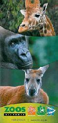 Melbourne  Zoos Victoria: Werribee, Melbourne, Healesville (2 Faltblätter: Kurzbeschreibung + Plan von Melbourne Zoo)