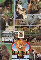 """Serengeti Park Hodenhagen  Führer """"über 20 Jahre Serengeti Park""""(versch. Fotos, unten rechts Kronenkranich)"""